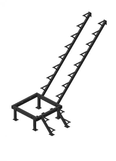 Каркас к лестнице ЛЕС-05 универсальной (поворот 90 градусов)