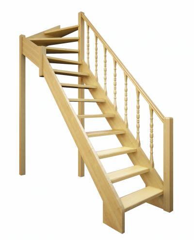 Деревянная межэтажная лестница Лес-715
