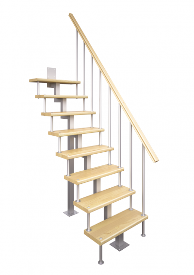 Модульная малогабаритная лестница Линия (прямой марш)