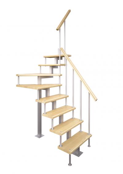 Модульная малогабаритная лестница Компакт (с поворотом 90 градусов)